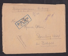 France: POW Prisoner Of War Cover To Germany, 1918, Censored, Officers Camp Pamiers, With Letter, WW1 (minor Damage) - Frankreich
