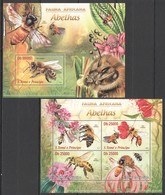 ST1743 2013 S. TOME E PRINCIPE FAUNA AFRICANA INSECTS ABELHAS BEES KB+BL MNH - Bienen