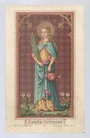 Santini Image Pieuse Holy Card GOLDPRINT SANCTA GERMANA Ste GERMAINE DE BAR SUR AUBE VIERGE ET MARTYRE FÊTE 1 OCTOBRE - Images Religieuses