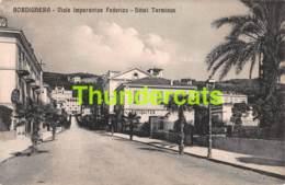 CPA BORDIGHERA VIALE IMPERATRICE FEDERICO HOTEL TERMINUS ANTIQUITES - Imperia