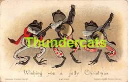 CPA CARTE MIGNONETTE MIDGET CARD FAULKNER HILDESHEIMER CHRISTMAS FROG FROGS GRENOUILLE GRENOUILLES KIKKER  FROSCH - Animaux & Faune