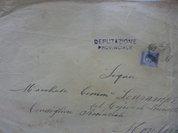 """Grande Busta Viaggiata """"Marchese Scarampi Del Cairo - Monforte D'Alba"""" 1918 - Storia Postale"""