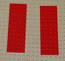 Légo Lot 2 X Plate Rouge 4x12 Ref 3029 - Lego Technic
