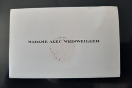 FRANCINE WEISWEILLER MECENE DE COCTEAU NEE WORMS FEMME D'ALEC WEISWELLER BANQUIER HERITIER SHELL COLLECTIONNEUR TABLEAU - Cartes De Visite