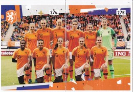 Nederland - AH-voetbalplaatjes 2018-2019 - Nederlands Vrouwenelftal - Oranjeleeuwinnen - 20 Plaatjes - Voetbal
