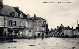 Creuse : Bonnat : Place De La Fontaine - France