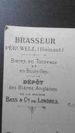 Brasserie François PETIT DESTREBECQ, Peruwelz 26 Octobre 1901. Signé. Bières Bass (Anglaises) - Belgique