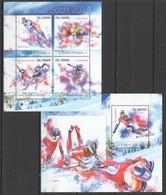 ST1806 2013 S. TOME E PRINCIPE SPORT OLYMPICS GAMES SOCHI 2014 KB+BL MNH - Inverno 2014: Sotchi