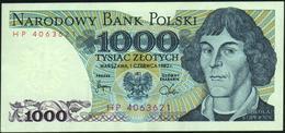 POLAND - 1.000 Zlotych 01.06.1982 {Narodowy Bank Polski} XF P.146 C - Pologne