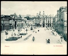 Zürich, Bahnhofsplatz, Vor 1905, Doppelkarte, Bahnhof,  Künzli Nr. 4009, Frankatur-Tabelle - ZH Zurich