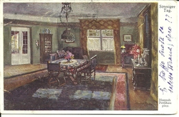 "4186 "" SONNIGER TAG-HANNAH PETFCHAU PINX ""CARTOLINA POSTALE ORIGINALE SPEDITA 1919 - Pittura & Quadri"