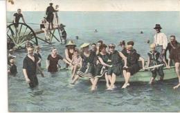 AQUA PHOTO N°2317-SCENE DE BAINS-BADSCENE-AFSTEMPELING OOSTENDE 1914 - Groupes D'enfants & Familles