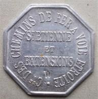 Monnaie De Nécessité - LOIRE 42 - St Etienne - Compagnie Des Chemins De Fer à Voie étroite - - Monetary / Of Necessity