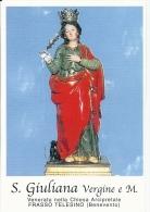 S. GIULIANA V. E M. - FRASSO TELESINO - (BN)  -  Mm.80 X 115 - SANTINO MODERNO - Religione & Esoterismo