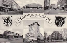 AK Dortmund - Hörde - Mehrbildkarte - Westfalenhalle Hermannstraße Hansastraße Kreishaus Bethanien Bahnhof- 1960 (41668) - Dortmund
