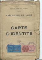 TIMBRES FISCAUX Sur CARTE D' IDENTITE 1939 - Fiscaux