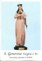 S. GENEROSA V. E M. - PONTE -  Mm.80 X 115 - SANTINO MODERNO - Religion &  Esoterik