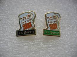 "Pin's 2 Chopes Avec De La Biere ""La GUEUZE"" - Beer"