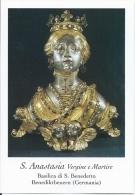 S. ANASTASIA V. E M. - BENEDIKTBEUERN (GERMANIA)  -  Mm.80 X 115 - SANTINO MODERNO - Religion & Esotérisme