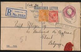 REGISTERED LETTER  = LONDEN E.C. 4  N° 2552 - 1902-1951 (Kings)