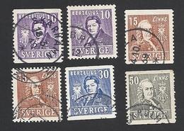 Schweden, 1939, Michel-Nr. 272-275 A+B, Gestempelt - Svezia