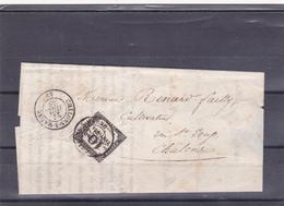 TAXE FRANCE N° 2, Type II, Typographie, 10centimes Noir, Sur Lettre En Provenance De CHALONS/MARNE - 1859-1955 Oblitérés