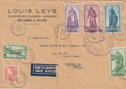 Lettre Avec TP 434Aa/ PA10/  737/ 738/ 739/ 740  D'Anvers à Montréal 1946 - Lettres & Documents
