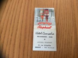 """Pochette D'allumettes * Régie Française """"St Raphaël / Hôtel Comoedia BREST (29)"""" - Boites D'allumettes"""