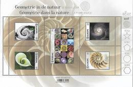 Belg. 2018 - COB N° BL265 ** - La Géométrie Dans La Nature (timbres 4785 à 4789) - België