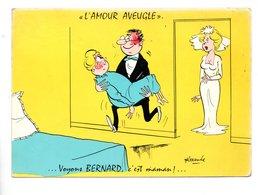 """ILLUSTRATEUR . ALEXANDRE . """" L'AMOUR AVEUGLE """" ... VOYONS BERNARD, C'EST MAMAN !... - Réf. N°22585 - - Alexandre"""