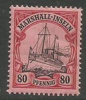 Marshall Islands - 1901 Kaiser's Yacht 80pf  MH *    Sc 21 - Colony: Marshall Islands