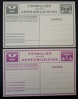 Jaren 1920 Briefkaart Voor Adreswijziging ,1.5 Cent Geuzendam G11 & G13, Ongebruikt - Postal Stationery