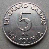 - MARRAKECH - Le Grand Casino De La Mamounia - 5 Dirhams - 1987 - - Casino