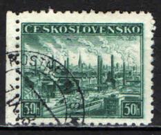 CECOSLOVACCHIA - 1938 - VEDUTA DI PILSEN - USATO - Oblitérés