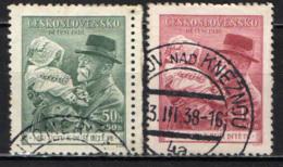 CECOSLOVACCHIA - 1938 - PRESIDENTE MASARYK CON UN BAMBINO IN COSTUME POPOLARE - USATI - Oblitérés