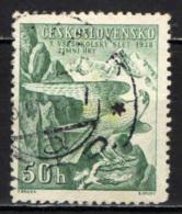 """CECOSLOVACCHIA - 1938 - EMBLEMA DEL MOVIMENTO """"SOKOL"""" - USATO - Oblitérés"""