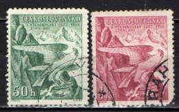 """CECOSLOVACCHIA - 1938 - EMBLEMA DEL MOVIMENTO """"SOKOL"""" - USATI - Oblitérés"""