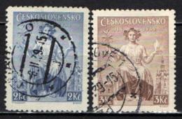 CECOSLOVACCHIA - 1938 - ALLEGORIA DELLA REPUBBLICA - USATI - Oblitérés