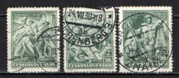 CECOSLOVACCHIA - 1938 - 20° ANNIVERSARIO DELLA BATTAGLIA DI BACHMAN, VOUZIERS E DOSS ALTO - USATI - Oblitérés