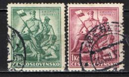 CECOSLOVACCHIA - 1937 - SOLDATI DELLA LEGIONE CECA - 20° ANNIVERSARIO DELLA BATTAGLIA DI ZBOROV - USATI - Oblitérés