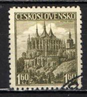 CECOSLOVACCHIA - 1937 - LA CHIESA DI SANTA BARBARA A KUTNA HORA - USATO - Oblitérés