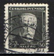 CECOSLOVACCHIA - 1937 - EFFIGIE DEL PRESIDENTE MASARYK - USATO - Oblitérés