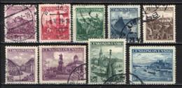 CECOSLOVACCHIA - 1936 - CASTELLI E MONUMENTI DELLA CECOSLOVACCHIA - USATI - Oblitérés