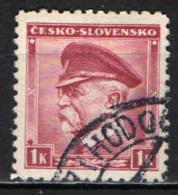 CECOSLOVACCHIA - 1935 - EFFIGIE DEL PRESIDENTE MASARYK - USATO - Oblitérés