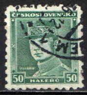 CECOSLOVACCHIA - 1935 - EFFIGIE DEL GENERALE MILAN STAFANIK - USATO - Oblitérés