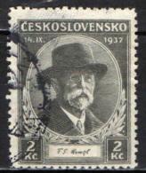 CECOSLOVACCHIA - 1925 - EFFIGIE DEL PRESIDENTE MASARYK - USATO - Oblitérés
