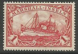 Marshall Islands - 1901 Kaiser's Yacht 1mk  MH *    Sc 22 - Colony: Marshall Islands