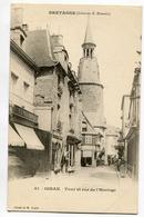 CPA 22 DINAN Rue De L' Horloge  (précurseur) - Dinan