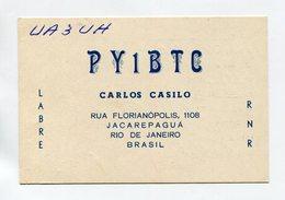 QSL RADIO AMATEUR CARD 1962 PY1BTC RIO DE JANEIRO BRASIL BRAZIL B92 - Radio Amateur