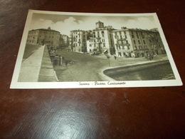 B727  Savona  Piazza Caricamento Non Viaggiata Cm14x9 - Savona